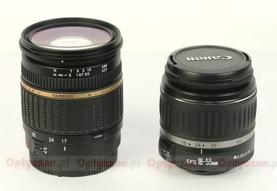 Tamron SP AF 17-50 mm f/2.8 XR Di II LD Aspherical (IF) - Build quality
