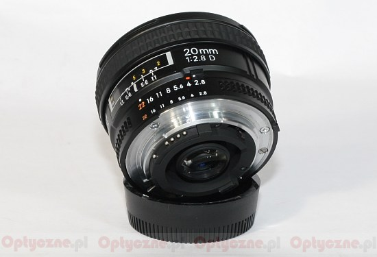 Nikon Nikkor AF 20 mm f/2.8D - Build quality