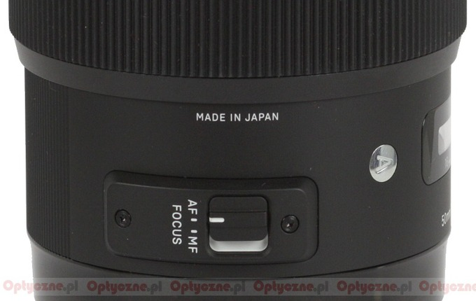 Sigma A 50 mm f/1.4 DG HSM - Build quality