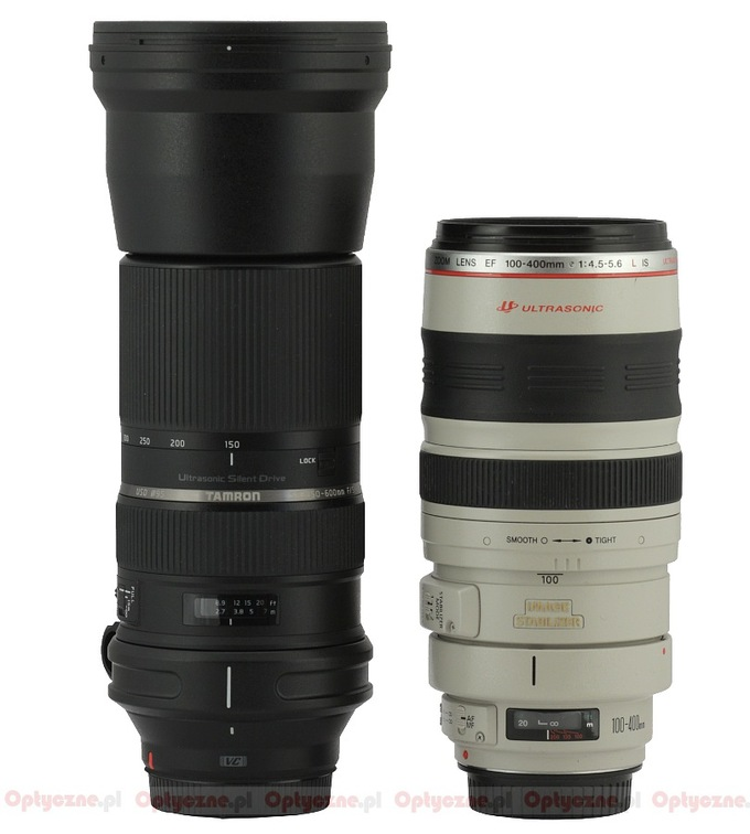 Tamron SP 150-600 mm f/5-6.3 Di VC USD - Build quality and image stabilization