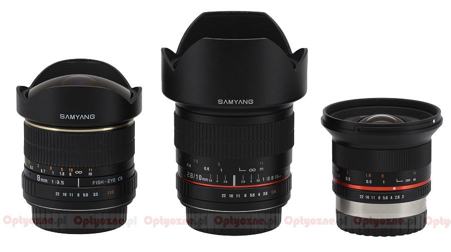 Samyang 12 mm f/2 0 NCS CS review - Build quality - LensTip com