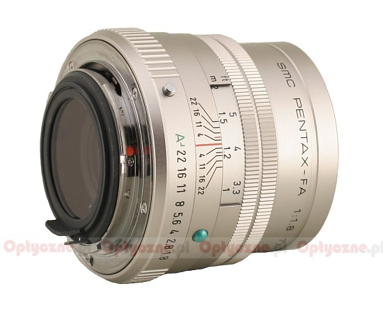 Pentax smc FA 77 mm f/1.8 Limited - Build quality