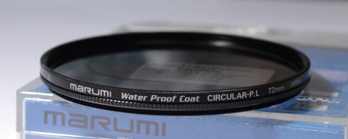 Polarizing filters test - Marumi Water Proof Coat Circular P.L 72 mm