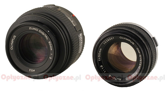 90 years of the Olympus company - Olympus F.Zuiko Auto-S 50 mm f/1.8 versus Olympus ZD 50 mm f/2.0 Macro - Build quality