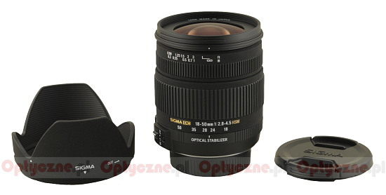 Sigma 18-50 mm f/2.8-4.5 DC OS HSM - Build quality and image stabilization