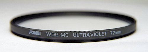 UV filters test - supplement - Fomei WDG-MC Ultraviolet 72 mm