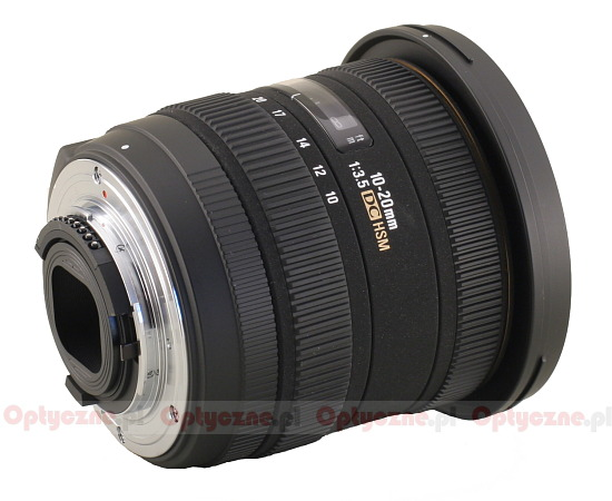 Sigma 10-20 mm f/3.5 EX DC HSM - Build quality