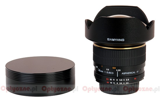 Samyang 14 mm f/2.8 IF ED MC Aspherical - Build quality