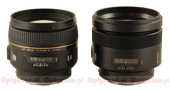 A history of Sony Alpha - Minolta AF 85 mm f/1.4 G D versus Sony Zeiss Planar T* 85 mm f/1.4 - Build quality