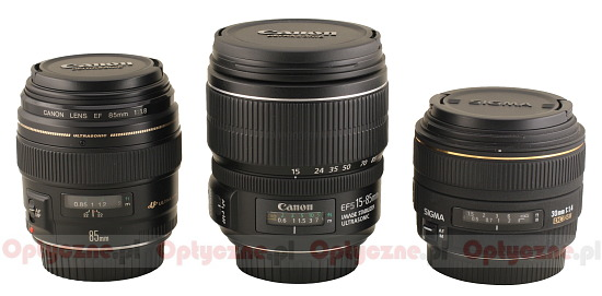 Canon EF-S 15-85 mm f/3.5-5.6 IS USM - Build quality and image stabilization