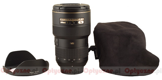 Nikon Nikkor AF-S 16-35 mm f/4G ED VR - Build quality and image stabilization