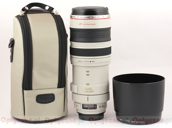 Canon EF 100-400 mm f/4.5-5.6 L IS USM - Build quality and image stabilization