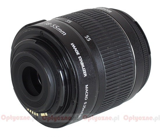 Canon EF-S 18-55 mm f/3.5-5.6 IS II - Build quality and image stabilization