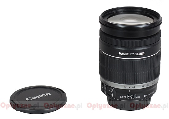 Canon EF-S 18-200 mm f/3.5-5.6 IS - Build quality and image stabilization
