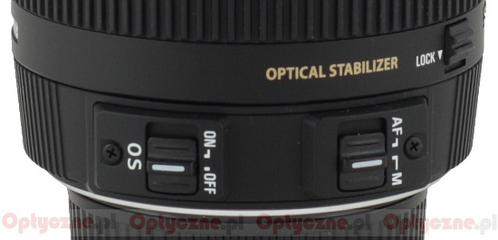 Sigma 18-200 mm f/3.5-6.3 II DC OS HSM - Build quality and image stabilization