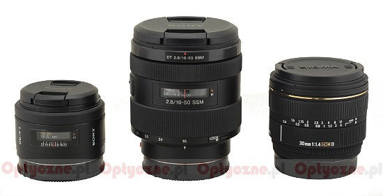 Sony DT 16-50 mm f/2.8 SSM - Build quality