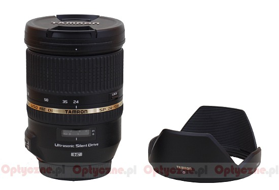 Tamron SP 24-70 mm f/2.8 Di VC USD - Build quality and image stabilization