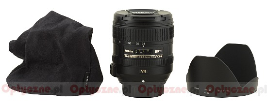 Nikon Nikkor AF-S 24-85 mm f/3.5-4.5G ED VR - Build quality and image stabilization