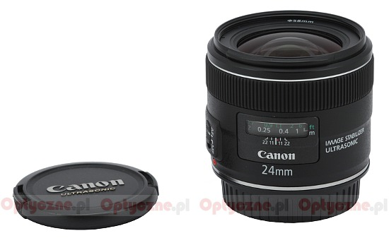 Canon EF 24 mm f/2.8 IS USM - Build quality and image stabilization