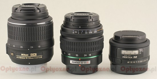 Pentax smc DA 18-55 mm f/3.5-5.6 AL II - Build quality