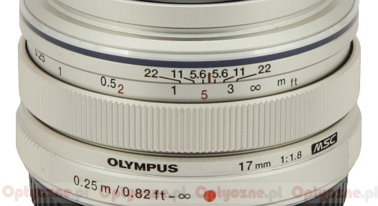 Olympus M.Zuiko Digital 17 mm f/1.8 - Build quality
