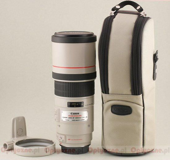 Canon EF 300 mm f/4L IS USM - Build quality and image stabilization
