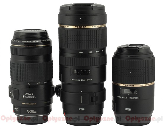 Tamron SP 70-200 mm f/2.8 Di VC USD - Build quality and image stabilization