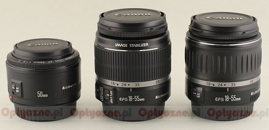 Canon EF-S 18-55 mm f/3.5-5.6 IS - Build quality and image stabilization