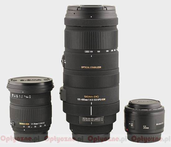 Sigma 120-400 mm f/4.5-5.6 APO DG OS HSM - Build quality and image stabilization