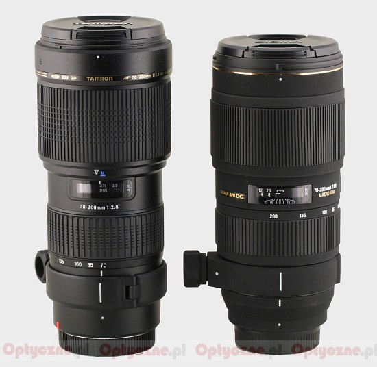 Tamron SP AF 70-200 mm f/2.8 Di LD (IF) MACRO - Build quality